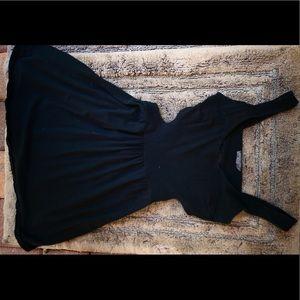 Black Peep-Back Babydoll Dress